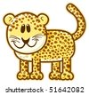 Leopard. Vector without gradients, great for printing. - stock vector