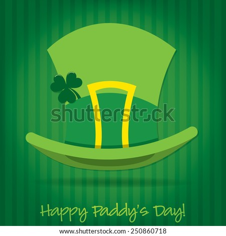 Leprechaun's hat St Patrick's Day card in vector format. - stock vector