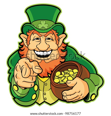 leprechaun pot of gold stock images  royalty free images   vectors    leprechaun   a pot of gold