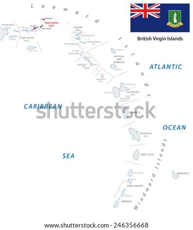 Lesser Antilles Outline Map Us Virgin Stock Vector - Us virgin islands map outline