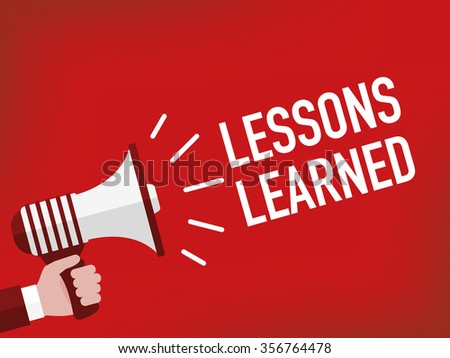 LESSONS LEARNED - stock vector