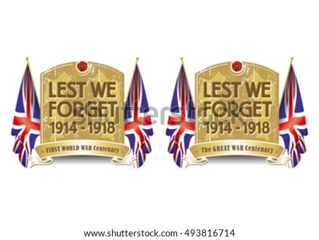 Poppy appeal lest we forget flag
