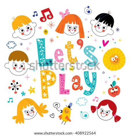 lets play - stock vector