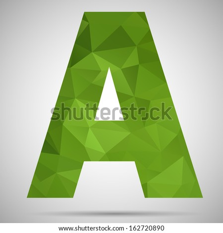 Letter A - stock vector