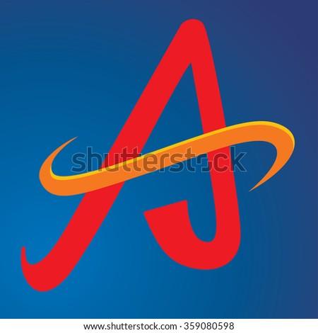 Letter A logo - stock vector