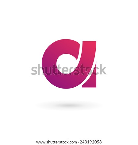 Letter A logo icon design template elements  - stock vector