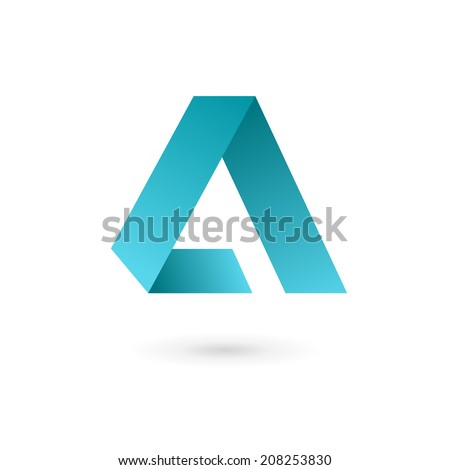 Letter A logo icon design template elements. Vector color sign. - stock vector