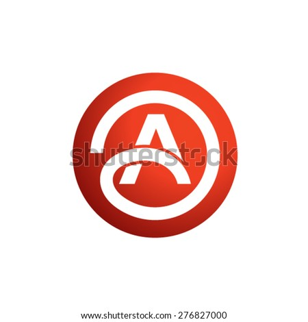 Letter A logo  template - stock vector