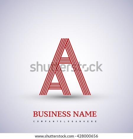 Letter Aa Linked Logo Design Symbol Stock Vector 428000656