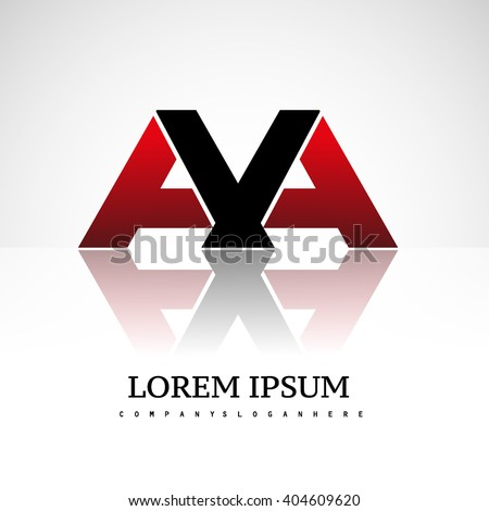 letter AA or AVA company linked letter logo icon red and black - stock vector