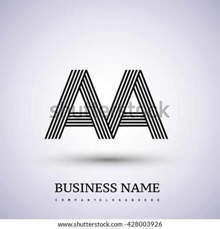 Letter Aa Ava Linked Logo Design Stock Vector 428003926 Shutterstock