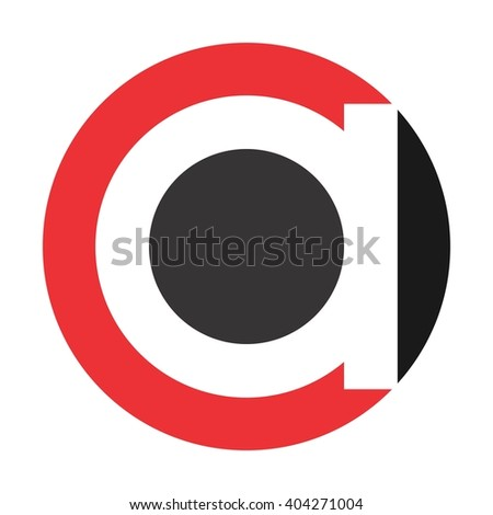 letter and circle logo vector. logotype of letter.