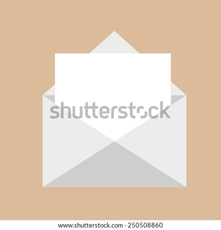 Letter and envelope vector icon for your design - stock vector