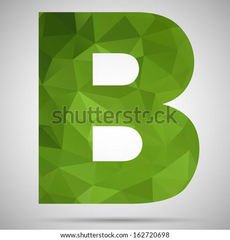 Letter B - stock vector