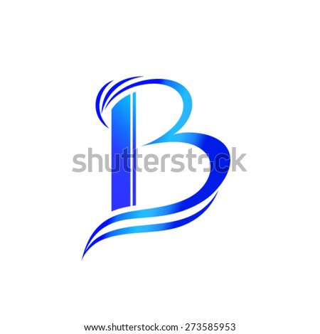 letter b logo design stock vector 273585953 shutterstock. Black Bedroom Furniture Sets. Home Design Ideas