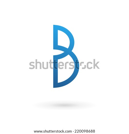 Letter B logo icon - stock vector