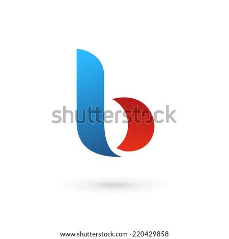 Letter b logo icon - stock vector