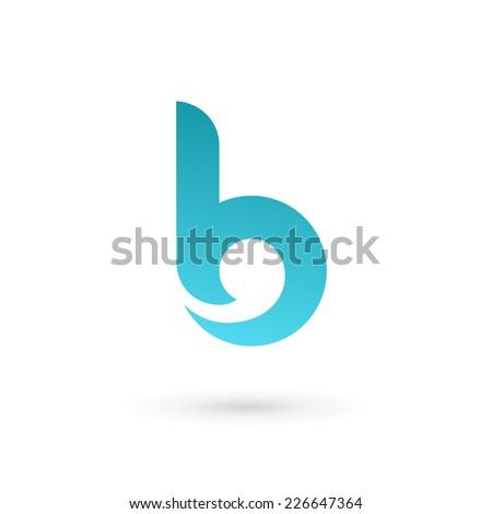 logo letter b design template stock vector 295789136. Black Bedroom Furniture Sets. Home Design Ideas