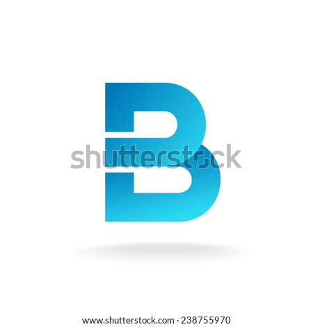 Letter B logo template. Construction building element style. - stock vector