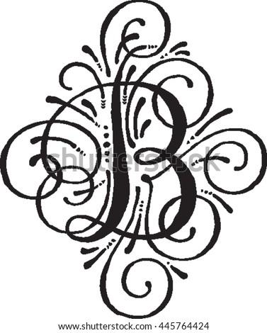 Fancy Letter B Stock Royalty Free & Vectors