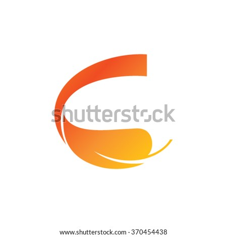 Letter C - stock vector