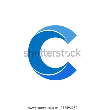 Letter C logo icon vector design, - stock vector