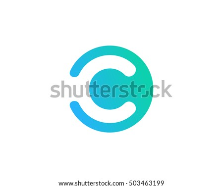 letter c negative space logo design stock vector 503463199 shutterstock. Black Bedroom Furniture Sets. Home Design Ideas