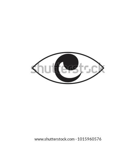 Letter C E One Eye Symbol Stock Vector 2018 1015960576 Shutterstock