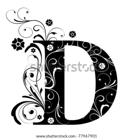 Letter Capital D - stock vector