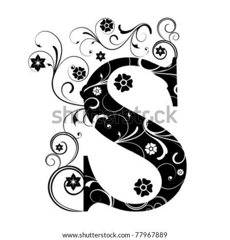 Letter Capital S - stock vector