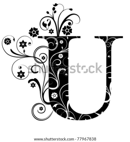Letter Capital U - stock vector