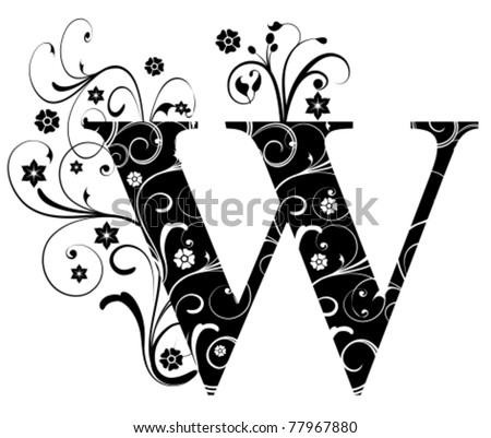 Letter Capital W - stock vector