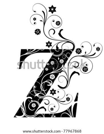 Letter Capital Z - stock vector