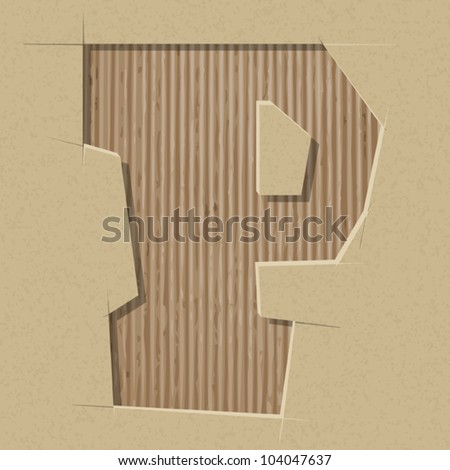 Letter cut out stock images royalty free images vectors for Alphabet letters cardboard