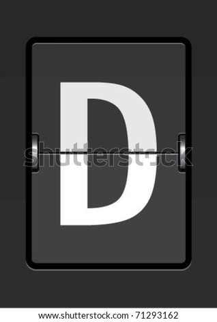 letter  d on a mechanical timetable