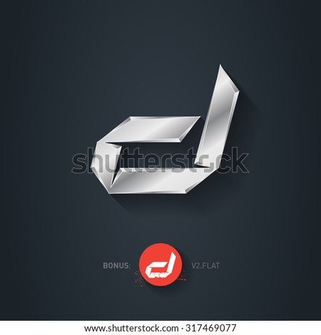 D alphabet design font stock images royalty free images vectors letter d vector silver font elegant template for company logo metallic design element altavistaventures Image collections