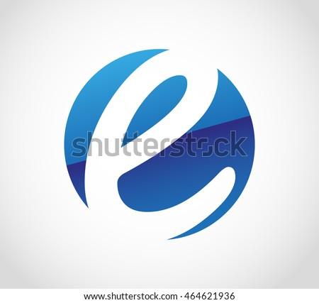 letter e logoalphabet logo designvector template stock vector