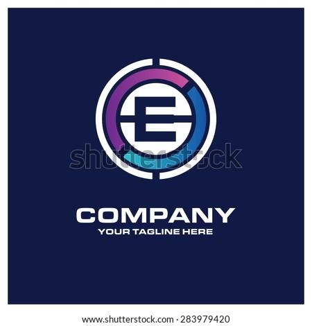 Letter E logo - ...E Logo With Circle