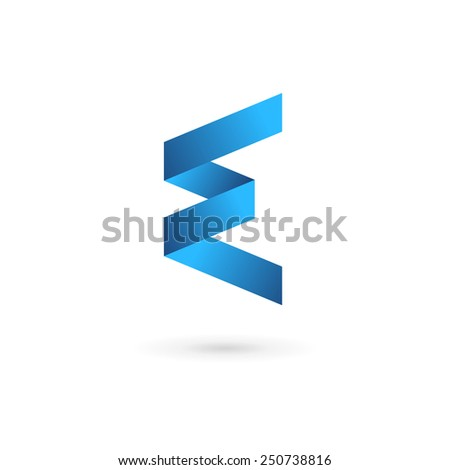 letter e logo icon design template stock vector 250738816