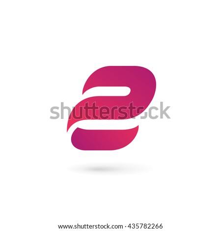 letter e number 2 logo iconのベクター画像素材 435782266 shutterstock