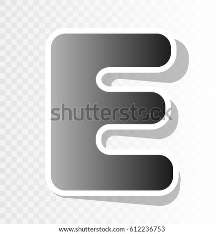 Letter e sign design template element stock vector 612236753 letter e sign design template element vector new year blackish icon on transparent background spiritdancerdesigns Images