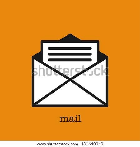 Letter, envelope. Vector icon. - stock vector