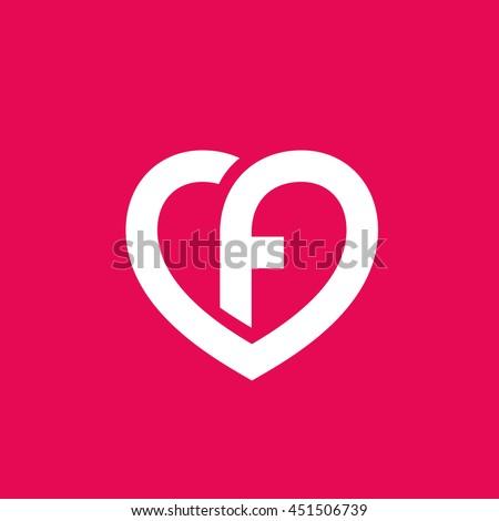 Letter f heart logo icon design stock vector 451506739 shutterstock letter f heart logo icon design template elements altavistaventures Choice Image