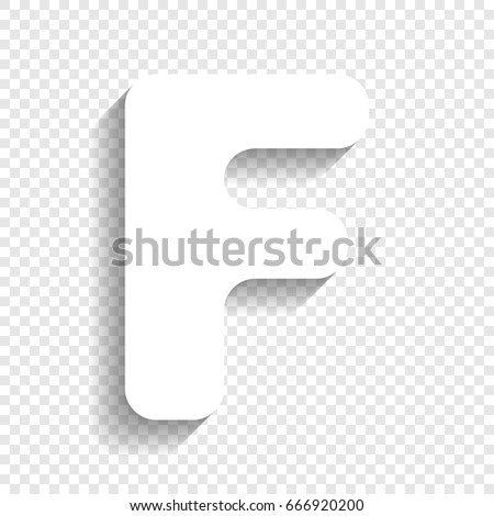 Letter f sign design template element stock vector 666920200 letter f sign design template element vector white icon with soft shadow on transparent maxwellsz