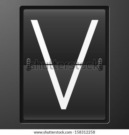 Letter from mechanical scoreboard alphabet - stock vector