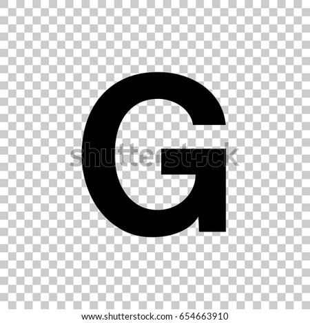 Letter g isolated on transparent background stock vector 654663910 letter g isolated on transparent background black symbol for your design vector illustration altavistaventures Choice Image