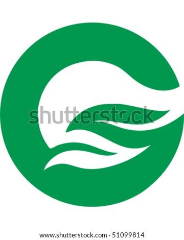 letter g leaf  G Logo