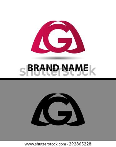 Letter g logo. Alphabet logotype vector design  - stock vector
