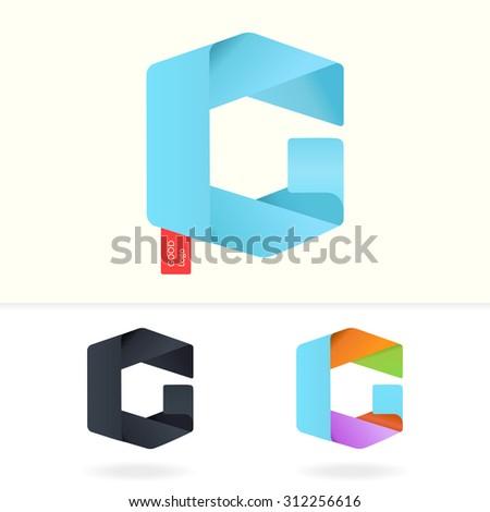 letter g logo design template stylish stock vector 312256616