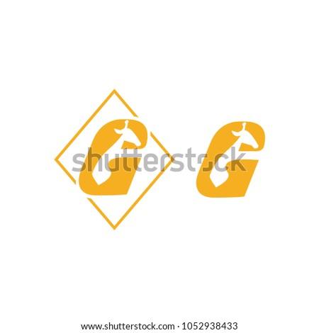 Letter g logo icon design template stock vector hd royalty free letter g logo icon design template elements giraffe logo g for giraffe typography spiritdancerdesigns Gallery